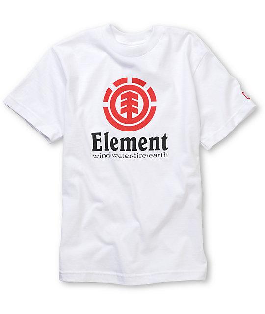 Element Boys Vertical White T-Shirt