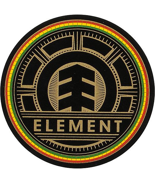 Element Bright Rasta Small Vinyl Sticker