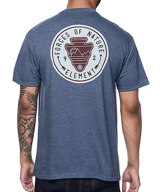 Element Carve Navy T-Shirt