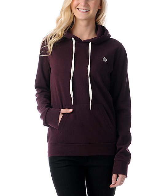 Element Colbie Blackberry Burgundy Pullover Hoodie