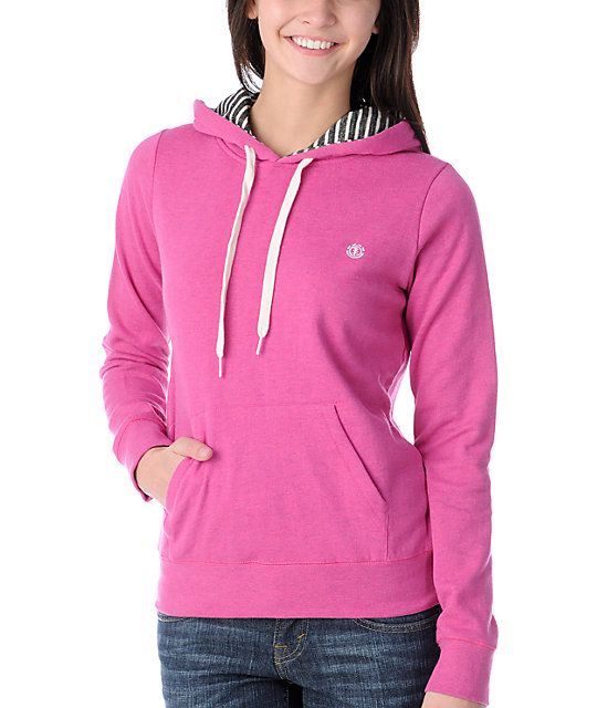 Element Colbie Pink Pullover Hoodie