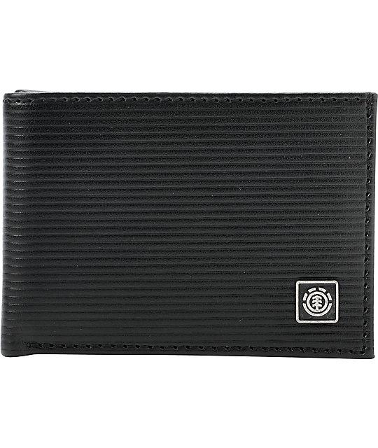 Element Corrugator Black Bifold Wallet