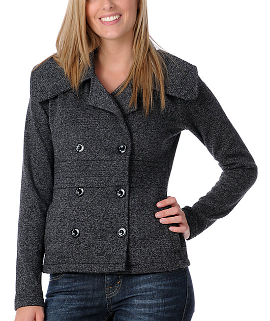 Element Darian Charcoal Pea Coat