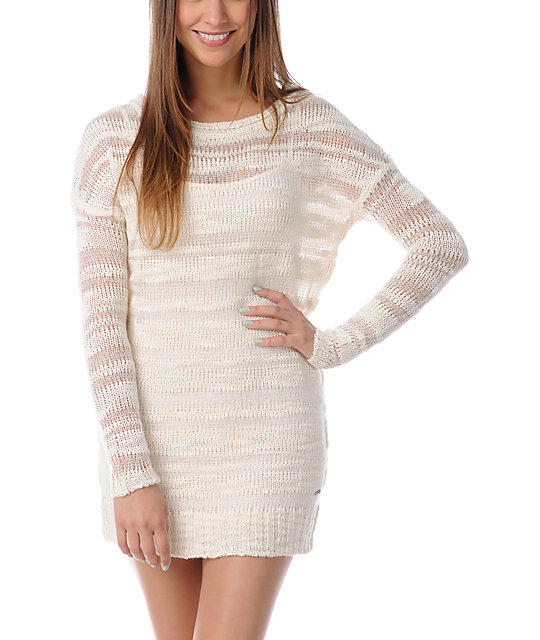 Element Dominique Natural White Sweater Dress