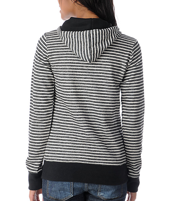 Element Dover Black Stripe Pullover Hoodie