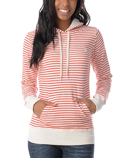 Element Dover Red Stripe Pullover Hoodie
