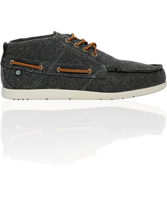 Element Emerald Hampton Grey Wool Shoes