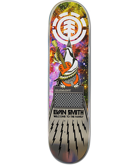 "Element Evan Smith Amp 8.0""  Featherlight Skateboard Deck"