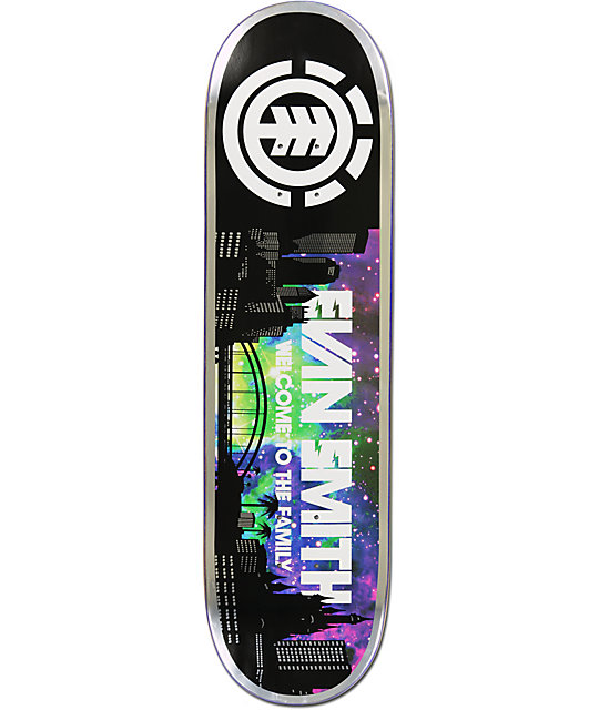"Element Evan Smith Welcome 8.25""  Featherlight Skateboard Deck"
