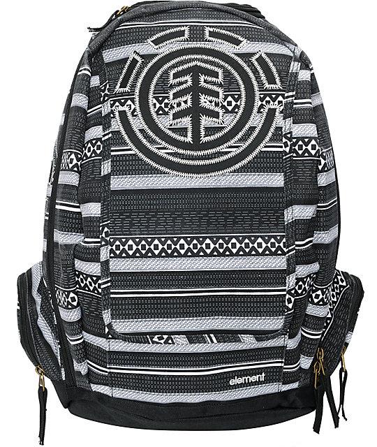 Element Gamine Metric Black & White Backpack