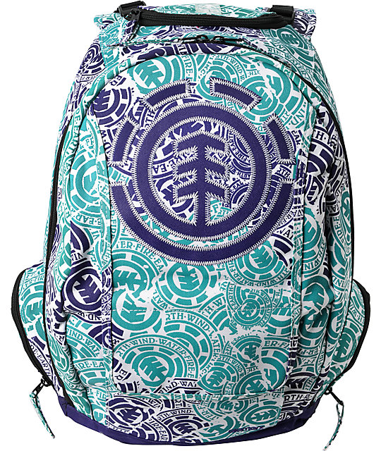 Element Gamine White & Plum Backpack