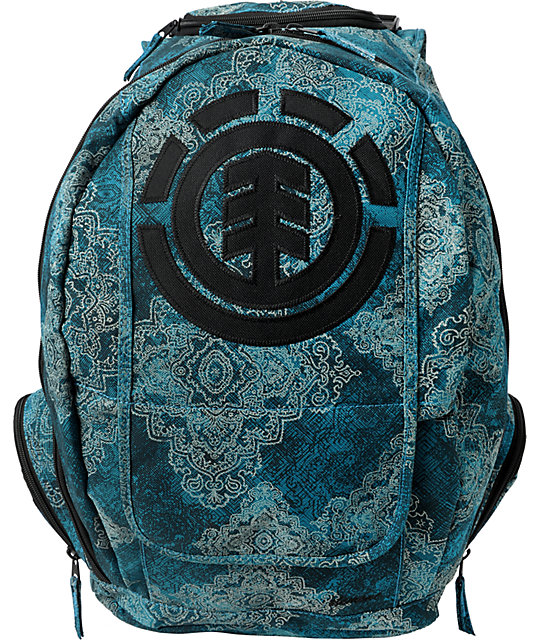 element girls gamine lagoon wallpaper backpack zumiez