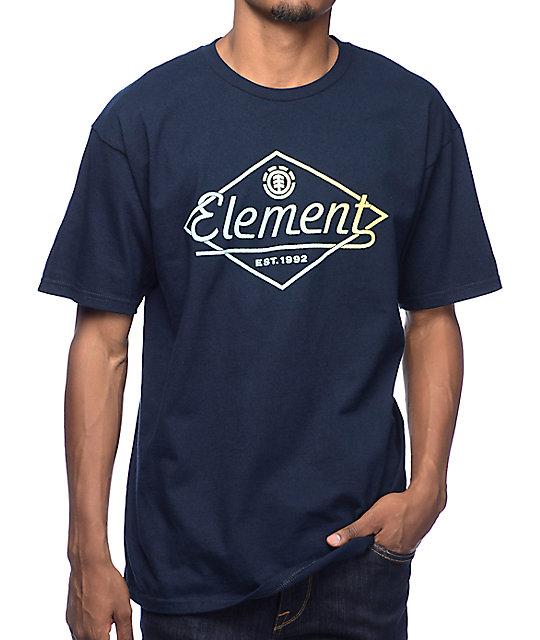 element gradual navy t shirt. Black Bedroom Furniture Sets. Home Design Ideas