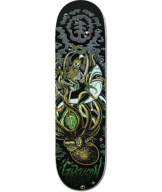 "Element Greyson Shark 8.5""  Skateboard Deck"