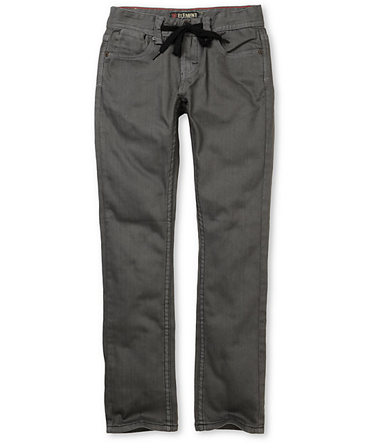 Element Grind Boys Charcoal Grey Skinny Jeans