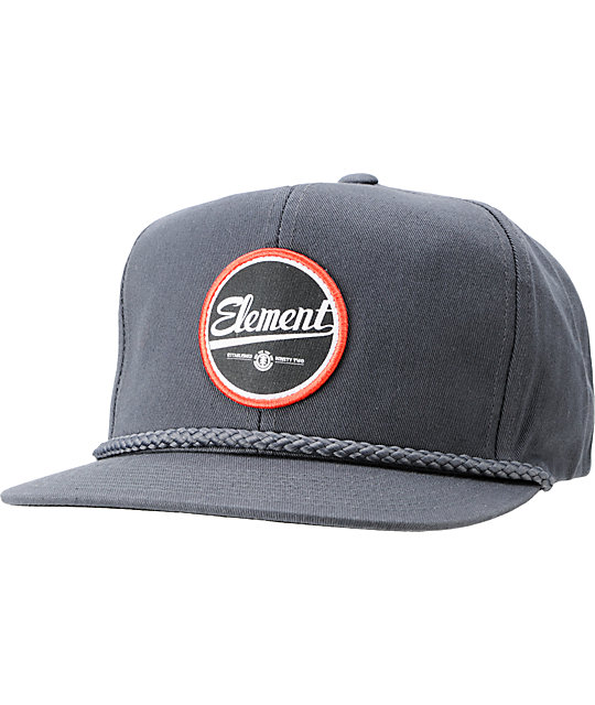 Element Hardball Charcoal Snapback Hat