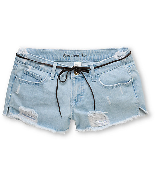 Element Idol Denim Cut Off Shorts