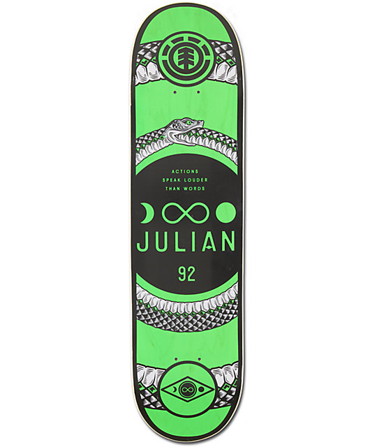 "Element Julian Davidson Snake 8.0""  Skateboard Deck"
