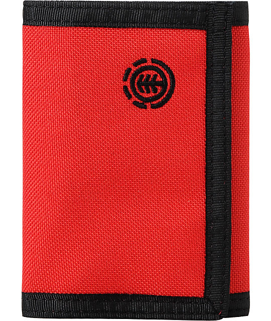 Element Keegan Red Tri-Fold Wallet