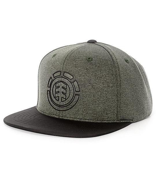 Element Knutsen Charcoal, Black & Grey Snapback Hat