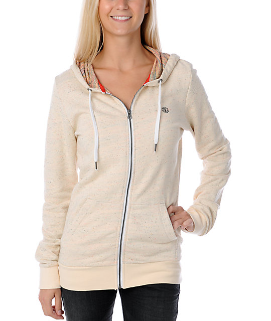 Element Lily Speckled Cream Hoodie