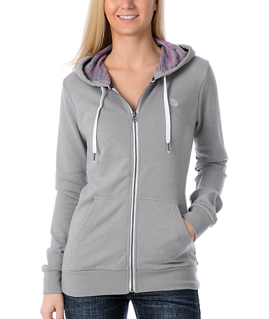 Element Lily Speckled Grey Hoodie