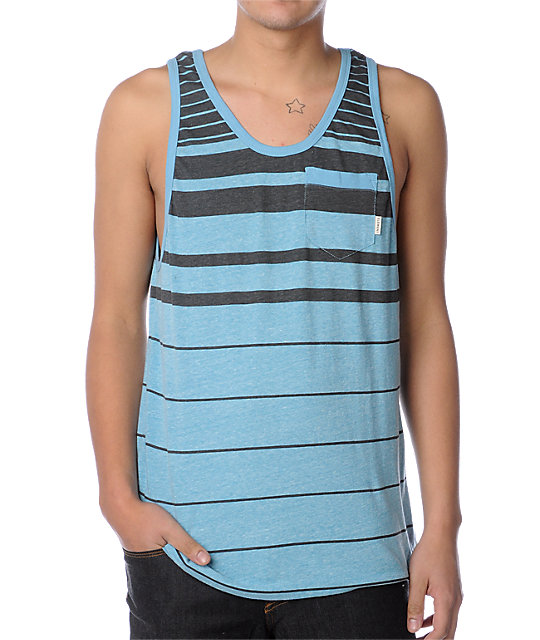 Element Livingston Teal Tank Top