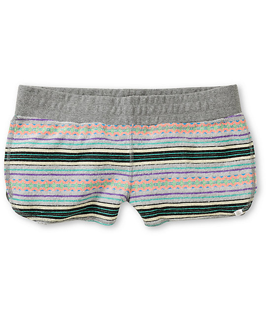 Element Lotus Jacquard Grey Terry Shorts