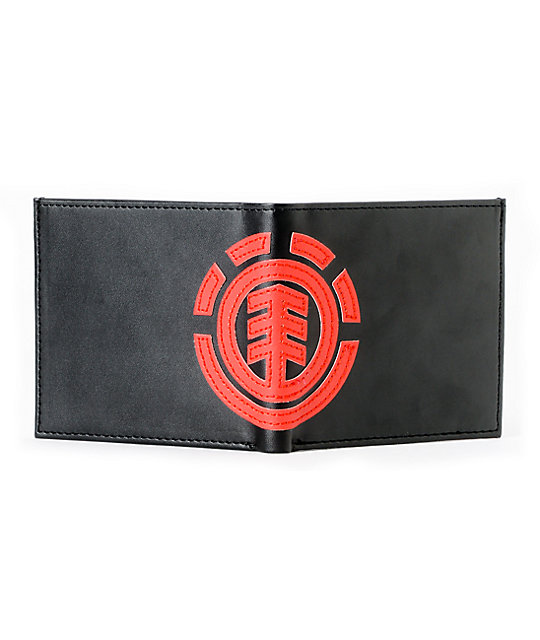 Element Loyalist 2 Black & Red Bifold Wallet