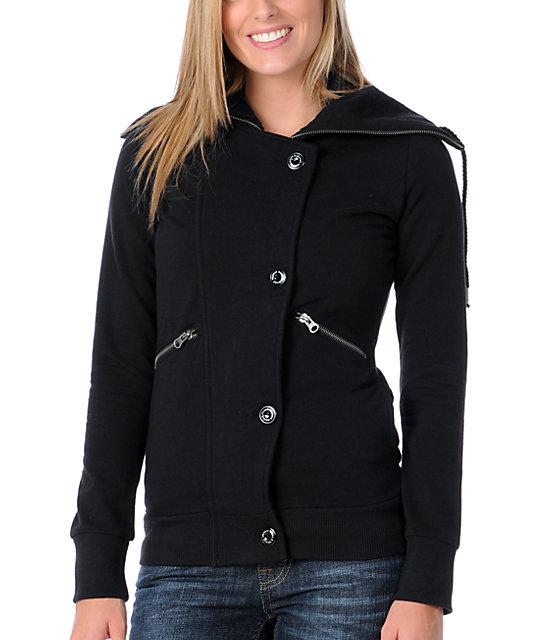 Element Martina Black Fleece Moto Jacket
