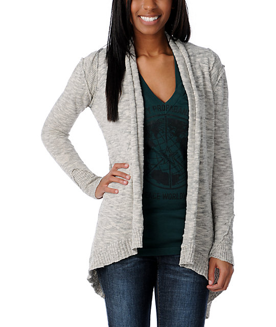 Element Mayah Light Grey Cardigan