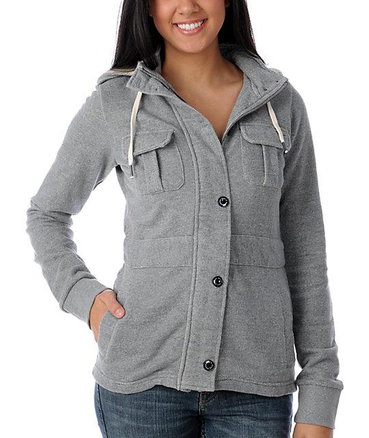 Element Mckayla Slub Grey Jacket
