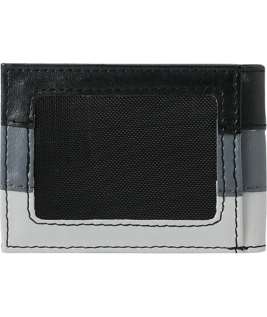 Element Mini Royal Black & Grey Bifold Wallet
