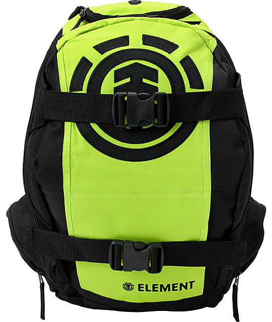 Element Mohave Black & Lime Skate Backpack