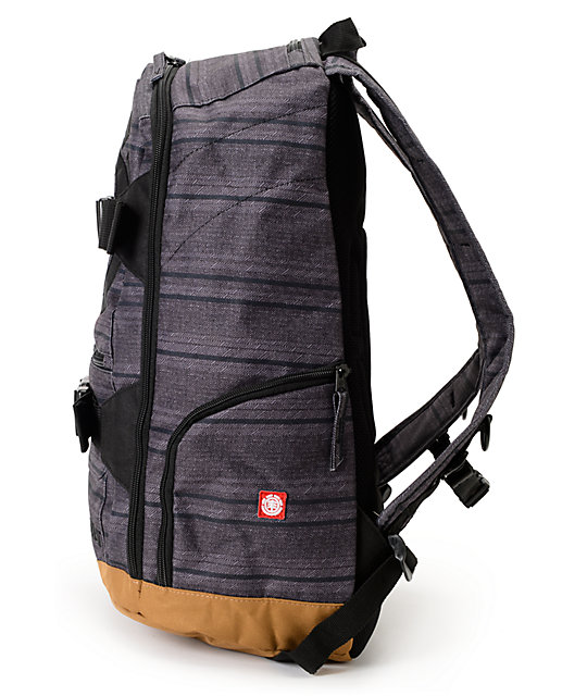 Element Mohave Quixote Print Charcoal Grey Laptop Backpack