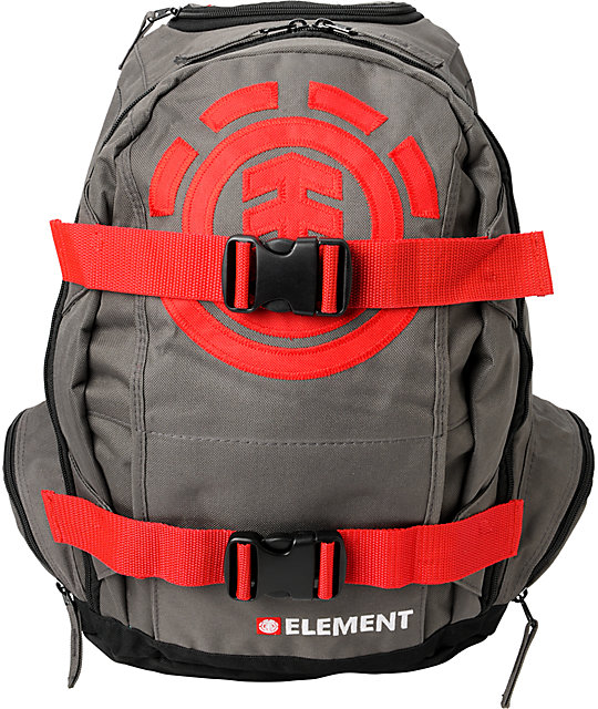 Element Mohave Red & Charcoal Skate Backpack