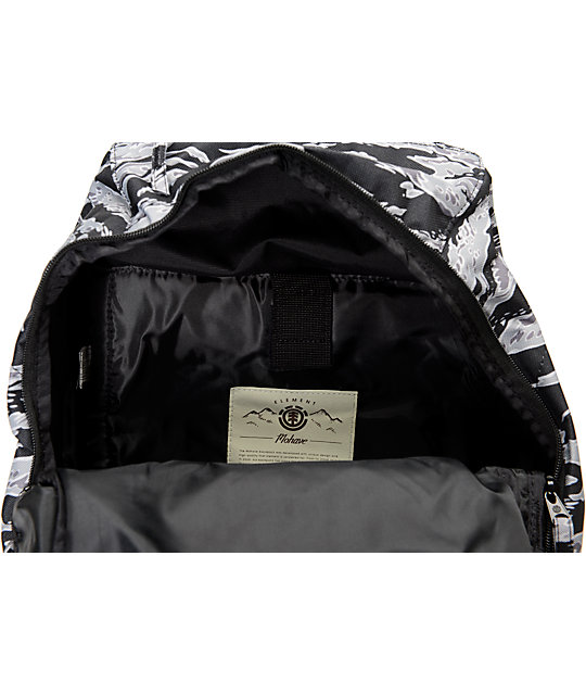 Element Mohave Tiger Print Charcoal Grey Laptop Backpack