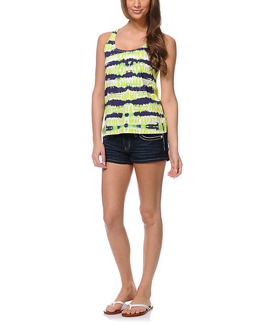 Element Nessa Lime Green Mesh Tank Top