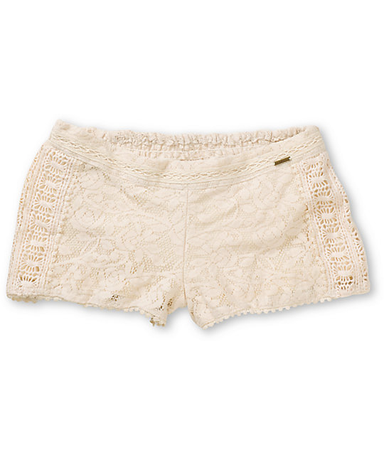 Element Nina Natural Crochet Shorts