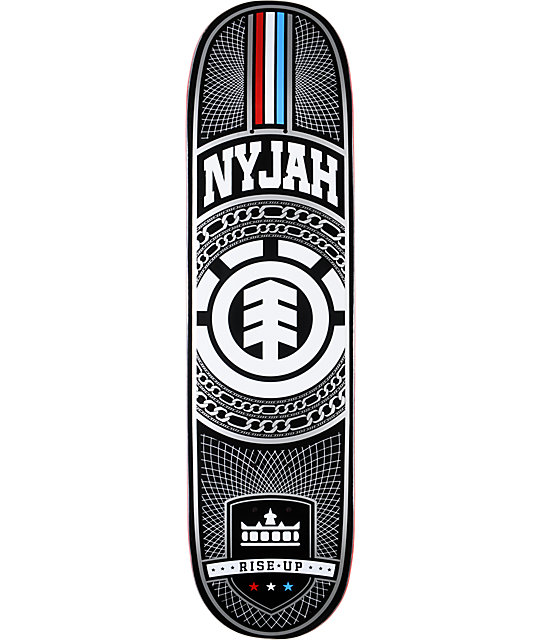 "Element Nyjah Chains Silver 8.125""  Skateboard Deck"