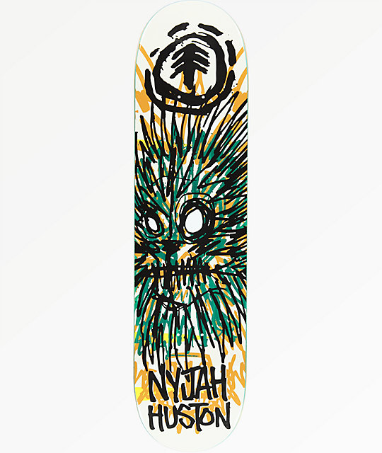 "Element Nyjah FOS Lion 7.75"" Skateboard Deck"