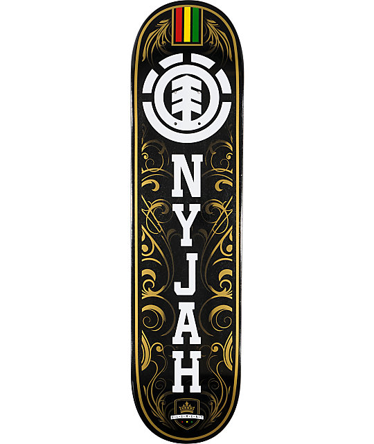 "Element Nyjah Gold Leaf 7.75""  Skateboard Deck"