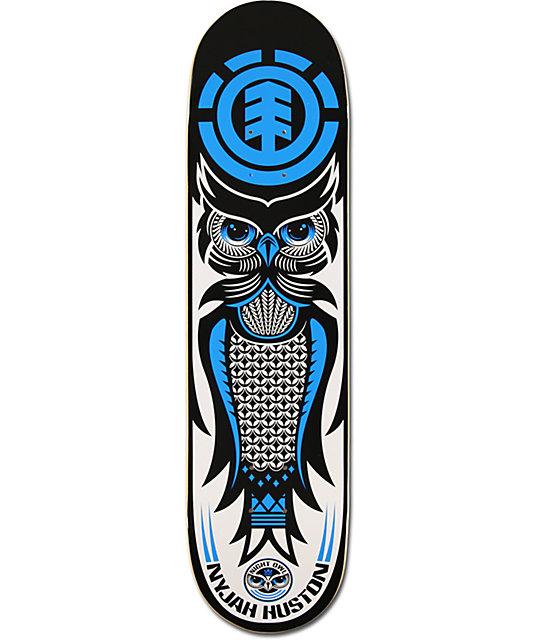 Element Nyjah Huston Night Owl 8 0 Quot Skateboard Deck At