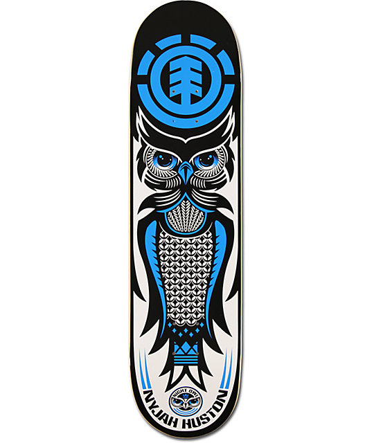 "Element Nyjah Huston Night Owl 8.0""  Skateboard Deck"