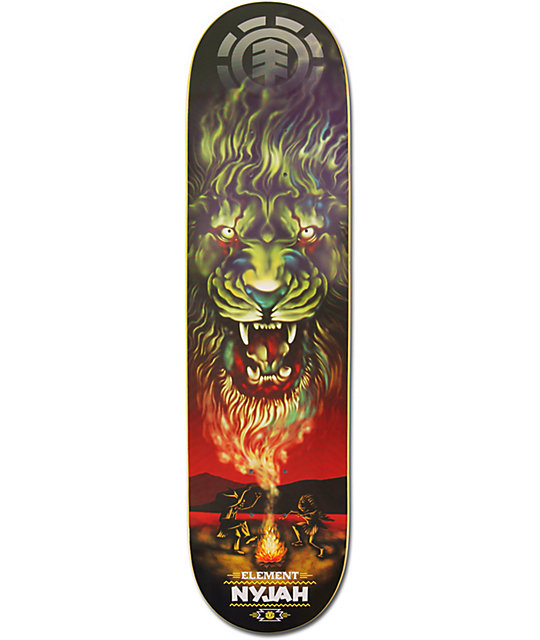 "Element Nyjah Huston Smoke SIgnals 8.0""  Skateboard Deck"