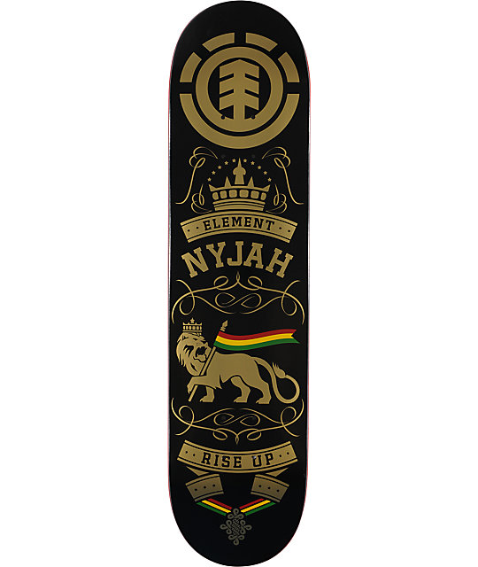 "Element Nyjah Rise Up 8.0""  Pro Skateboard Deck"