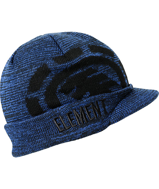 Element Operator Blue Visor Beanie
