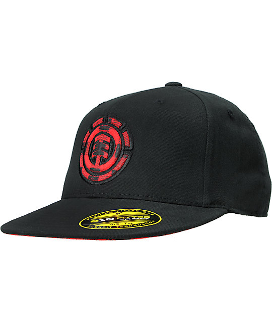 Element Peekaplaid Black Flexfit Hat