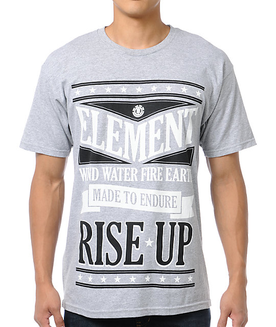 Element Poster Heather Grey T-Shirt