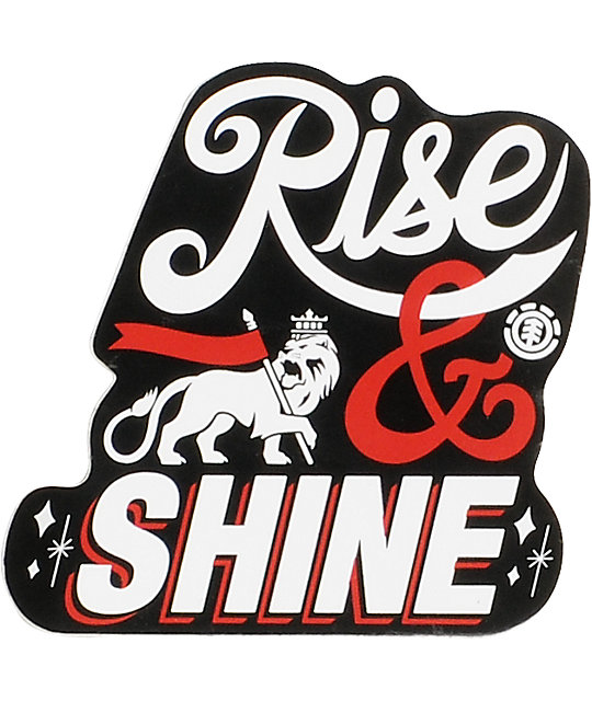 Element Rise & Shine Small Vinyl Sticker